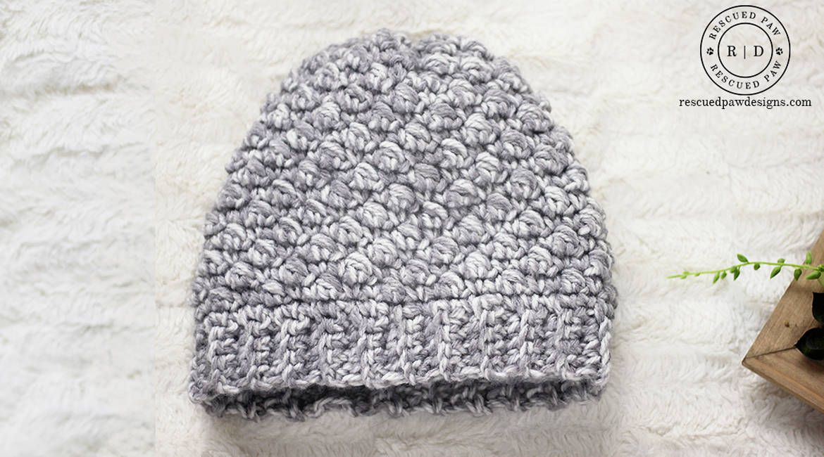Emily Diagonal Beanie Crochet Hat Pattern | Crafts to try ...