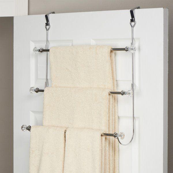 Basics Over The Door Towel Rack In 2020 Towel Rack Towel Rack