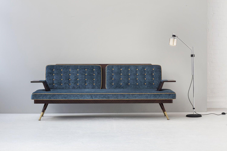 Bert Frank Sofa. A Mid Century inspired sofa in rosewood.