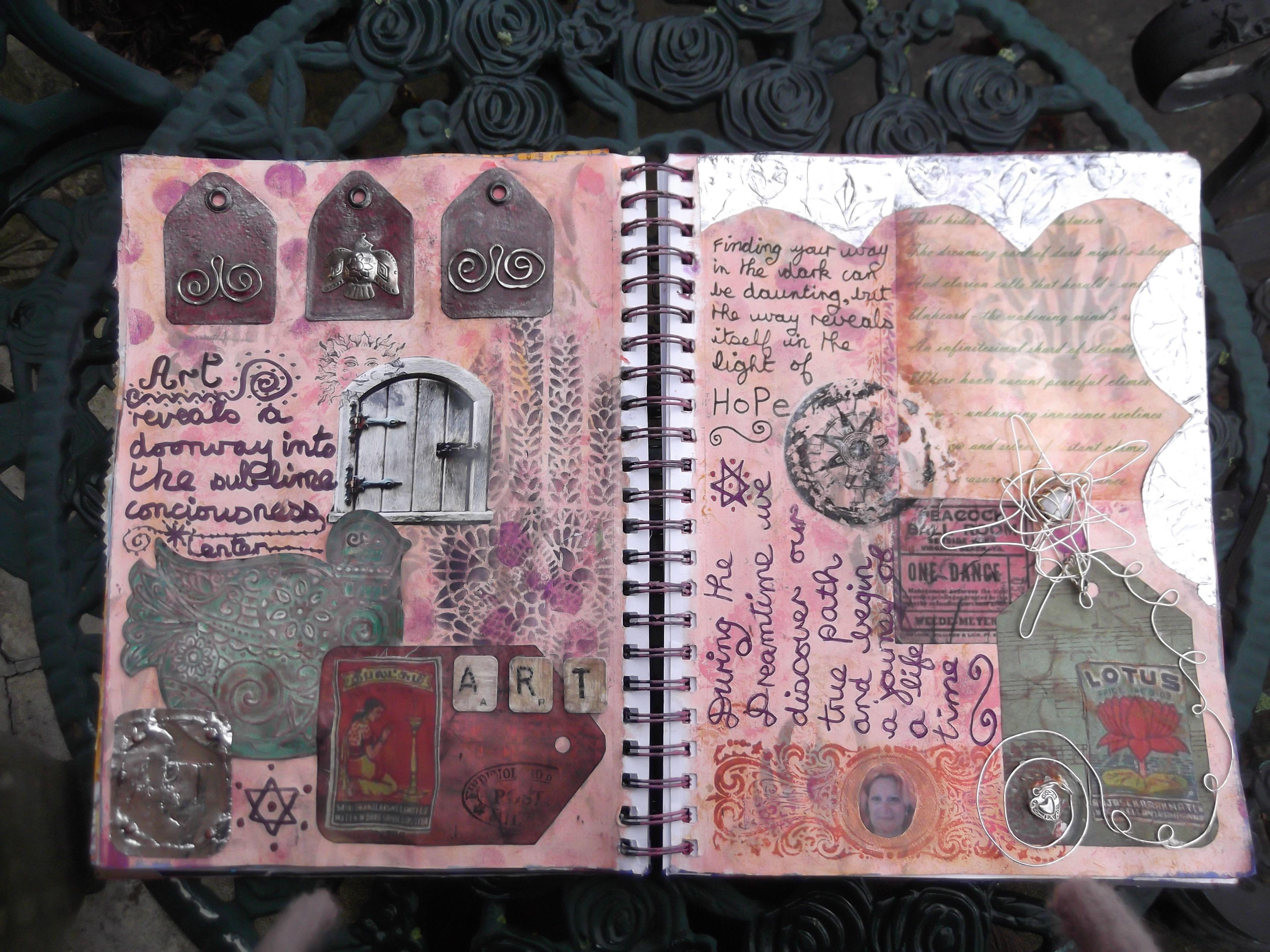 art journal double spread