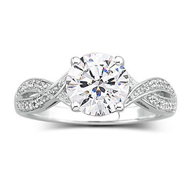 Nice Brilliant Facets Cubic Zirconia Engagement Ring jcpenney