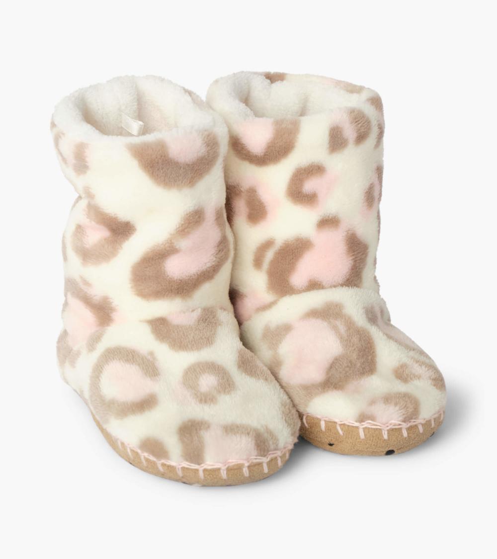 Painted Leopard Fleece Slippers In 2020 Slippers Fleece Hatley Pajamas