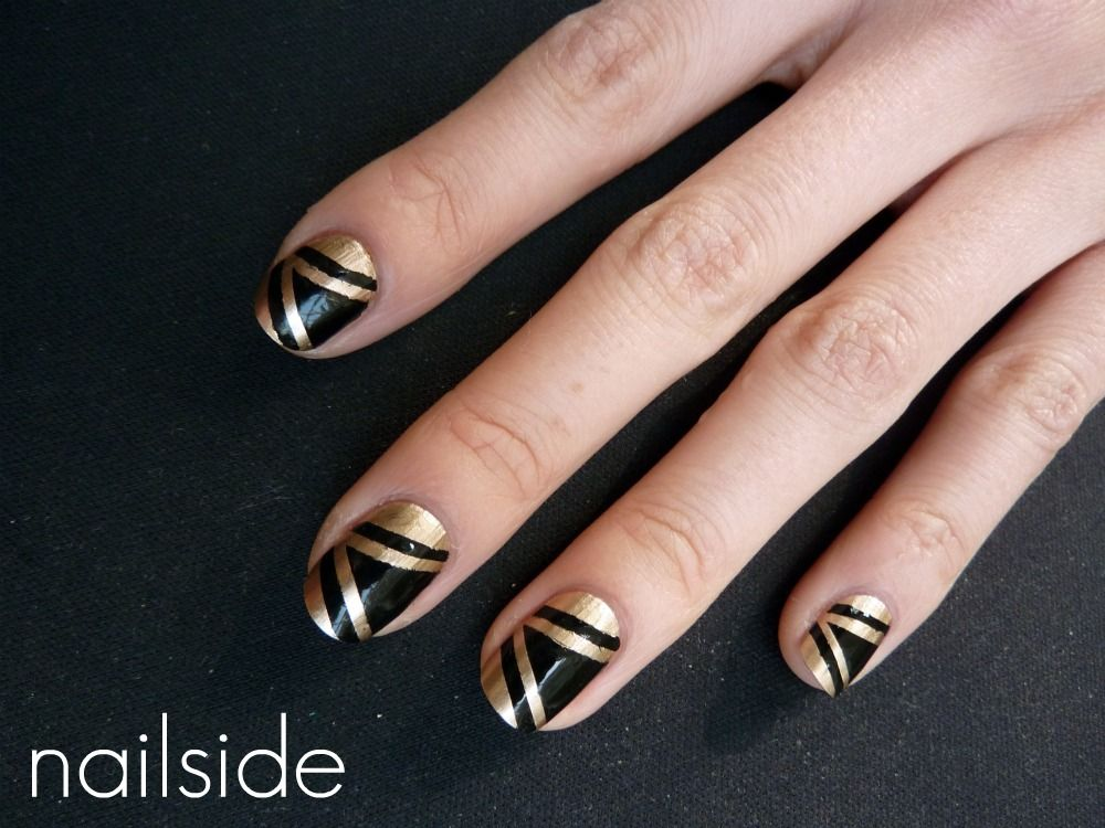 Black And Gold Nail Polish Designs - Creative Touch