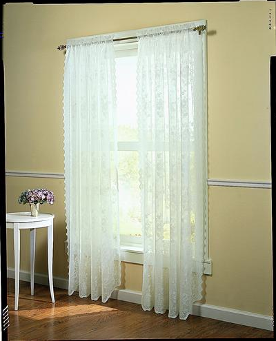 Shop colony 268072 floral lace scalloped curtain panel at lowes canada find our selection of curtains drapes at the lowest price guaranteed with price