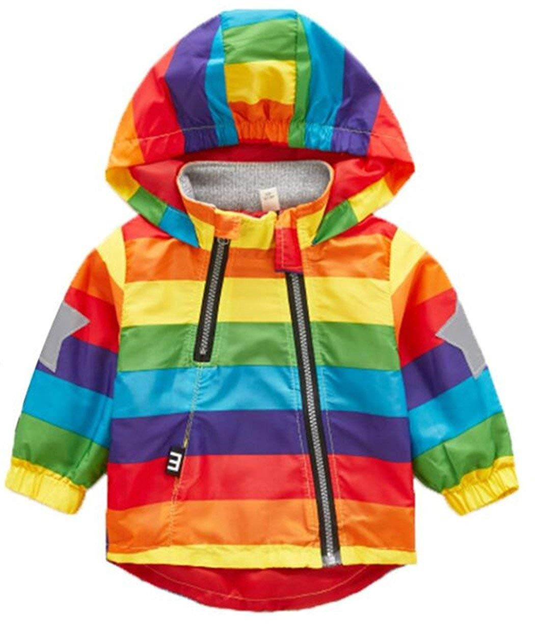 Toddler Boys Girls Rainbow Striped Outerwear Hooded Zipper Windproof Jacket Colour Cp18ed7qnzd Kids Winter Coats Girls Jacket Outerwear Jackets [ 1245 x 1050 Pixel ]