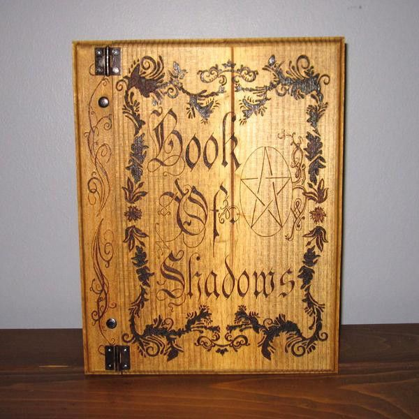 Floral Filagree with Pentagram Book of Shadows
