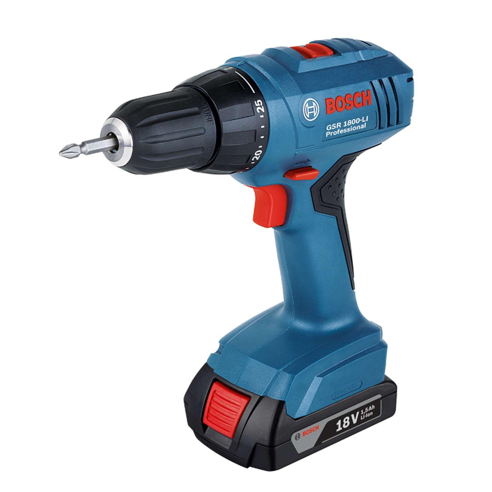 Bosch Cordless Drill Gsr 1800 Li 18v Cordless Drill Drill Driver Bosch