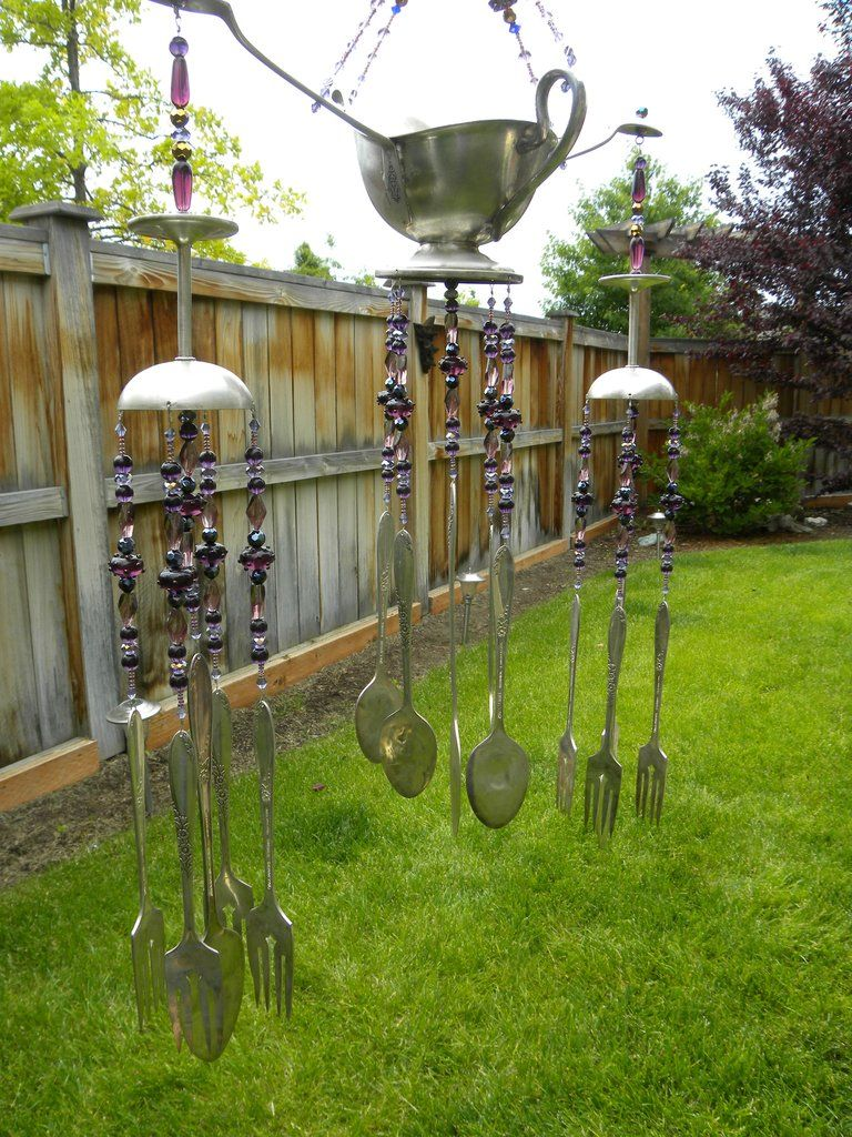 Wind Chime Art With Orted Whimsical Silver Pieces Funky