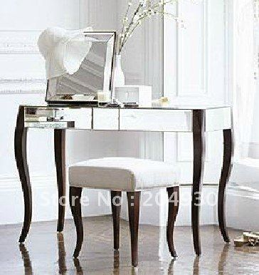 MR  Mirrored Console Table Vanity Set Make Up Setin Other - Mirrored makeup vanity set