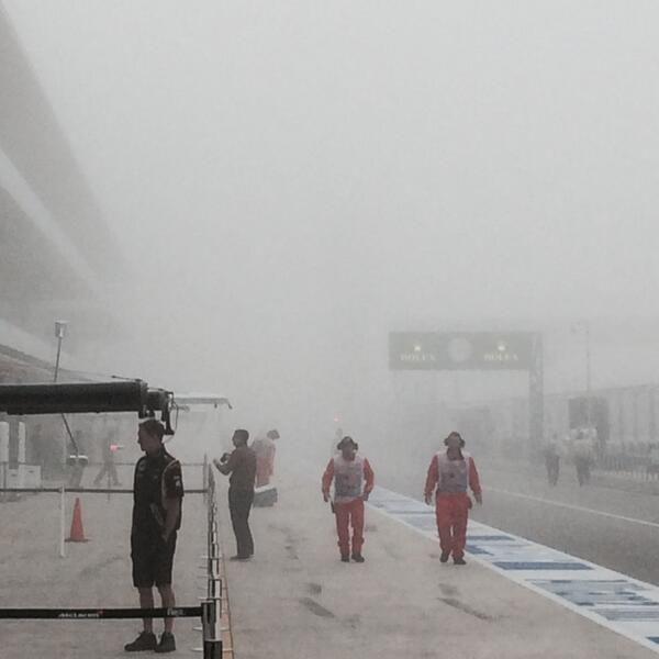 GP de Estados Unidos 2013: Libres 1 en directo - F1 al día. Neblina en el pitlane