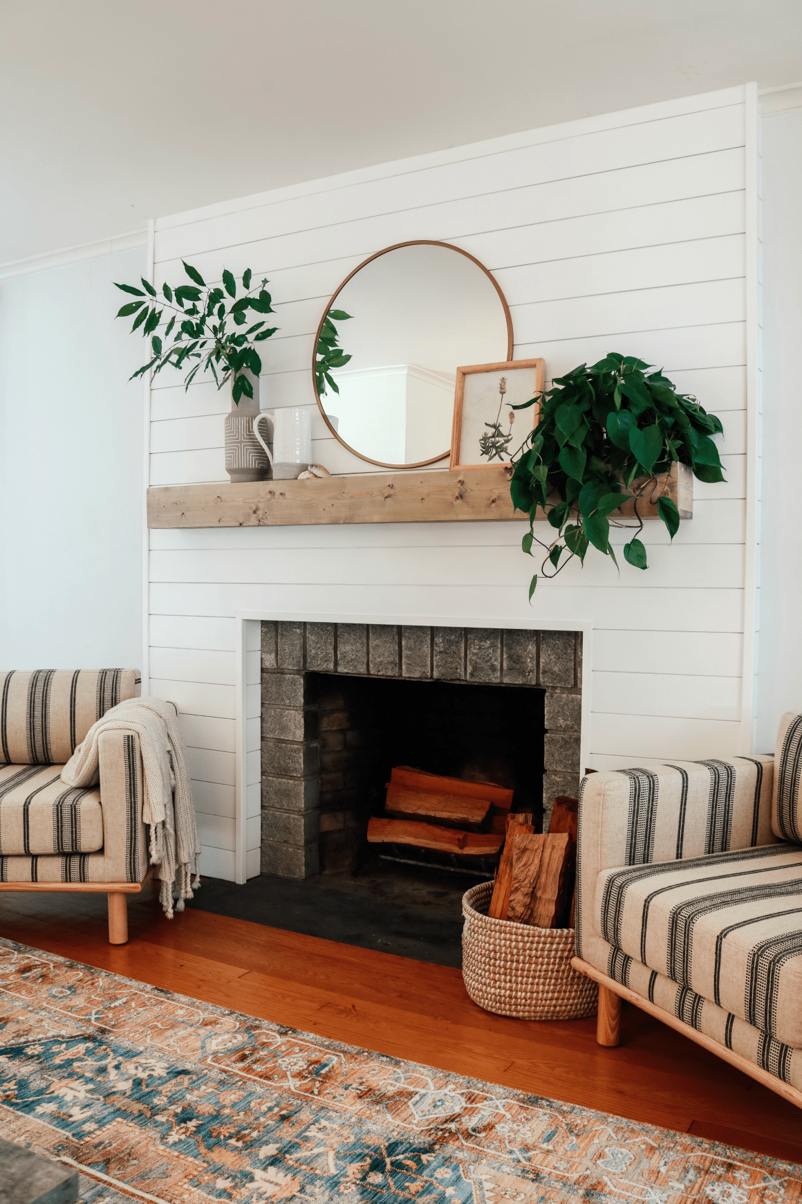 7 Small Space Makeovers: Small Space Living Room, Living Room With Fireplace, Cozy