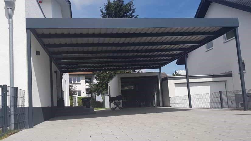 Moderne Carports In 2020 Carport Stahlcarport Und Doppelcarport