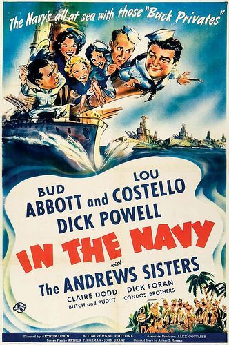In The Navy 1941 Abbott Costello Classic Movie Posters Old