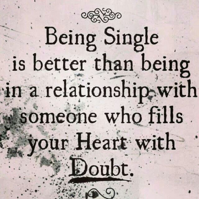 what to do when in doubt about the relationship