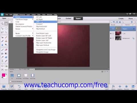 Learn How To Rotate And Flip Images In Adobe Photoshop Elements At Www Teachucomp Com Photoshop Elements Photoshop Elements 12 Tutorials Photoshop Elements 12
