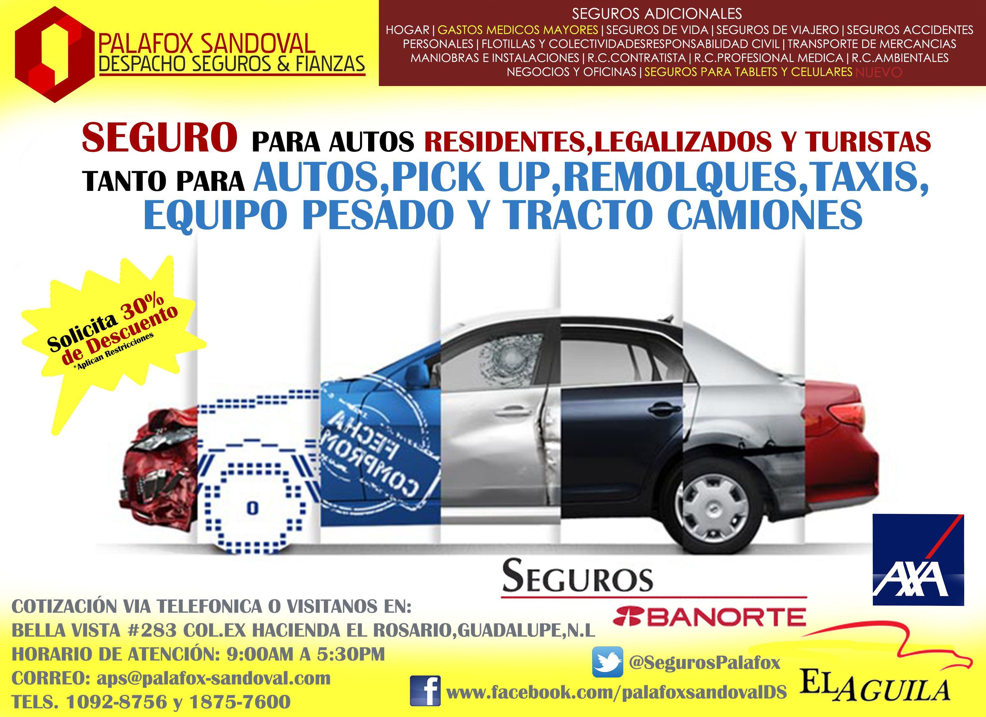 Seguro para tu automóvil #DisfrutaLaVidaSinRiesgos | Seguros para ...