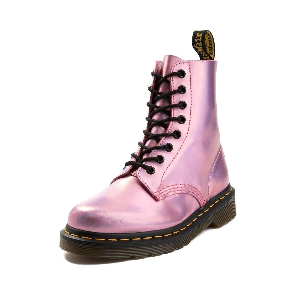 Dr. Martens Pink Eight eye Pascal Boots