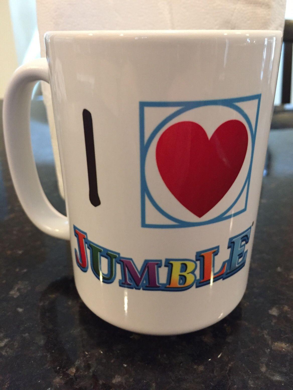 I ❤️ Jumble Coffee Mug Giveaway! | Mugs, Coffee mugs, Jumbled