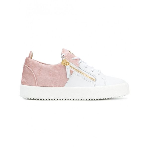 Giuseppe Zanotti Design Leather Sneakers (14,370 MXN) ❤ liked on Polyvore  featuring shoes,