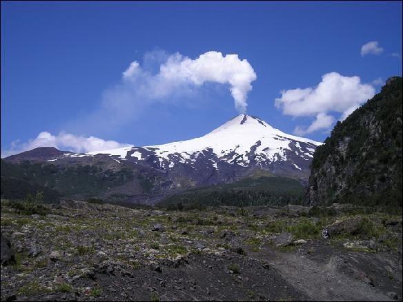 volcanes de chile -lanin -