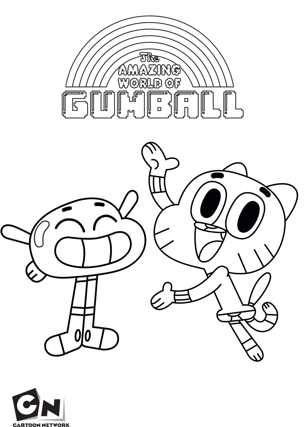 Gumball And Anais The Amazing World Of Gumball Coloring Pages For