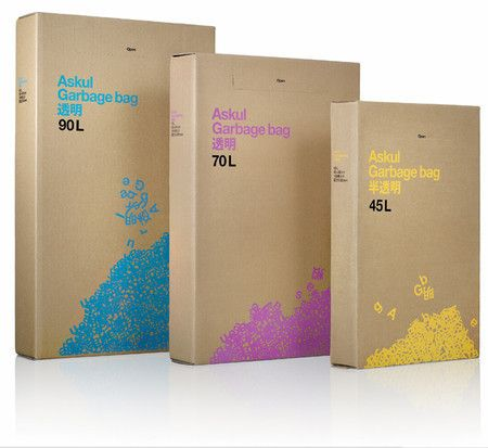 ASKUL GARBAGE BAGS.