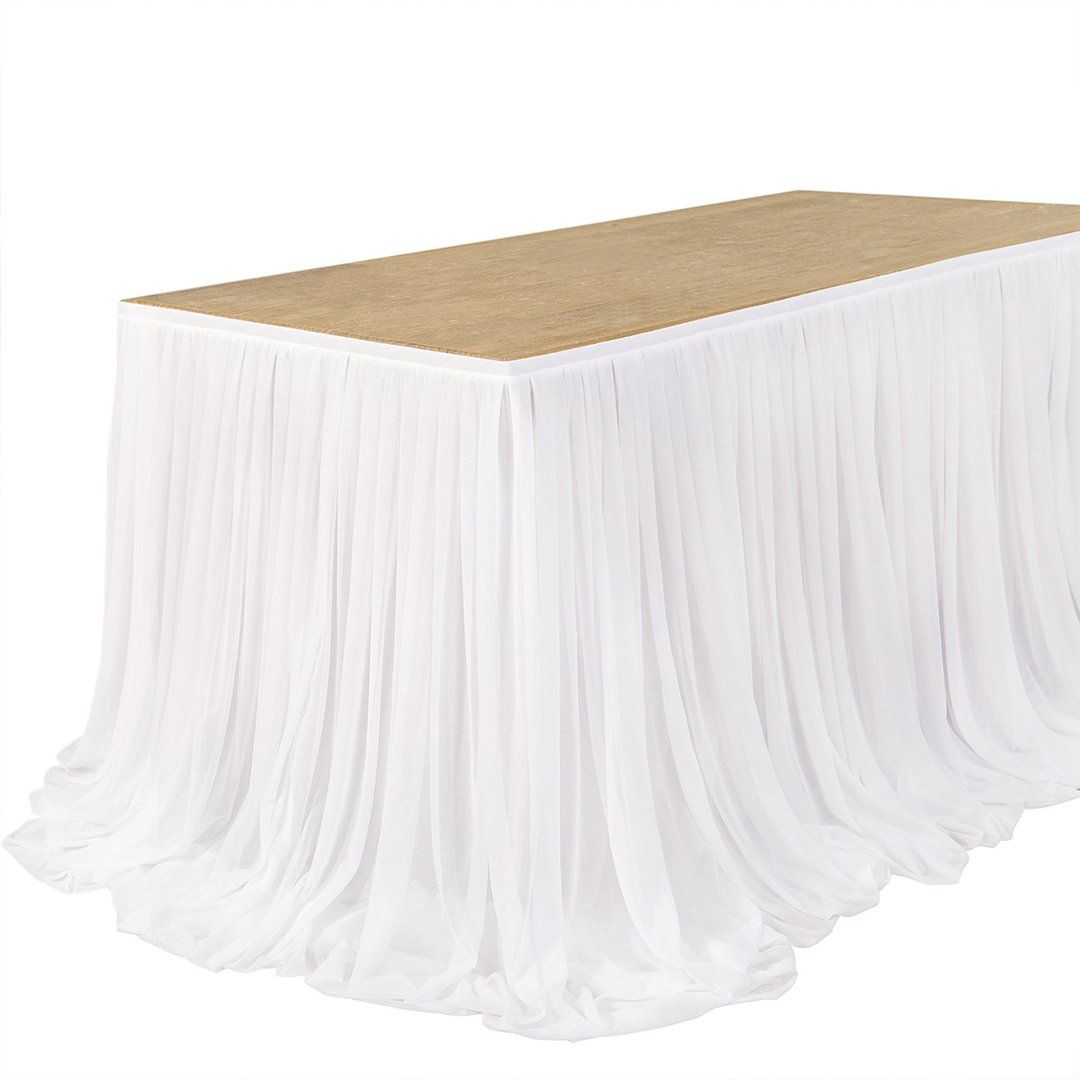 Extra Long Pooling Table Skirt 6 Colors In 2020 Table Skirt