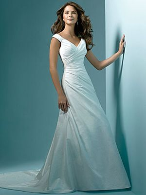 A-Line Princess Off the Shoulder V-Neck Asymmetrical Waist Non ...