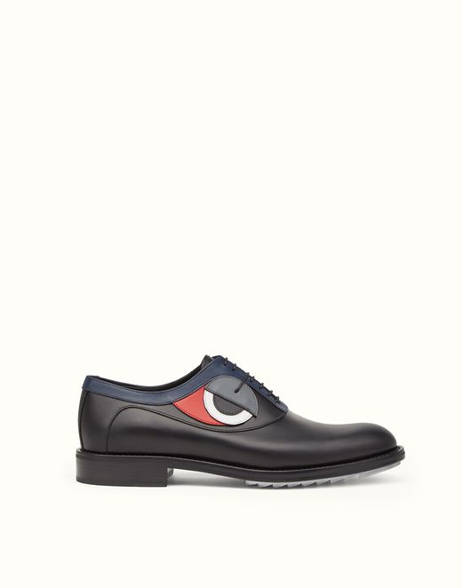 f47ed96a FENDI | lace up in inlaid multicoloured leather | men's shoes we ...