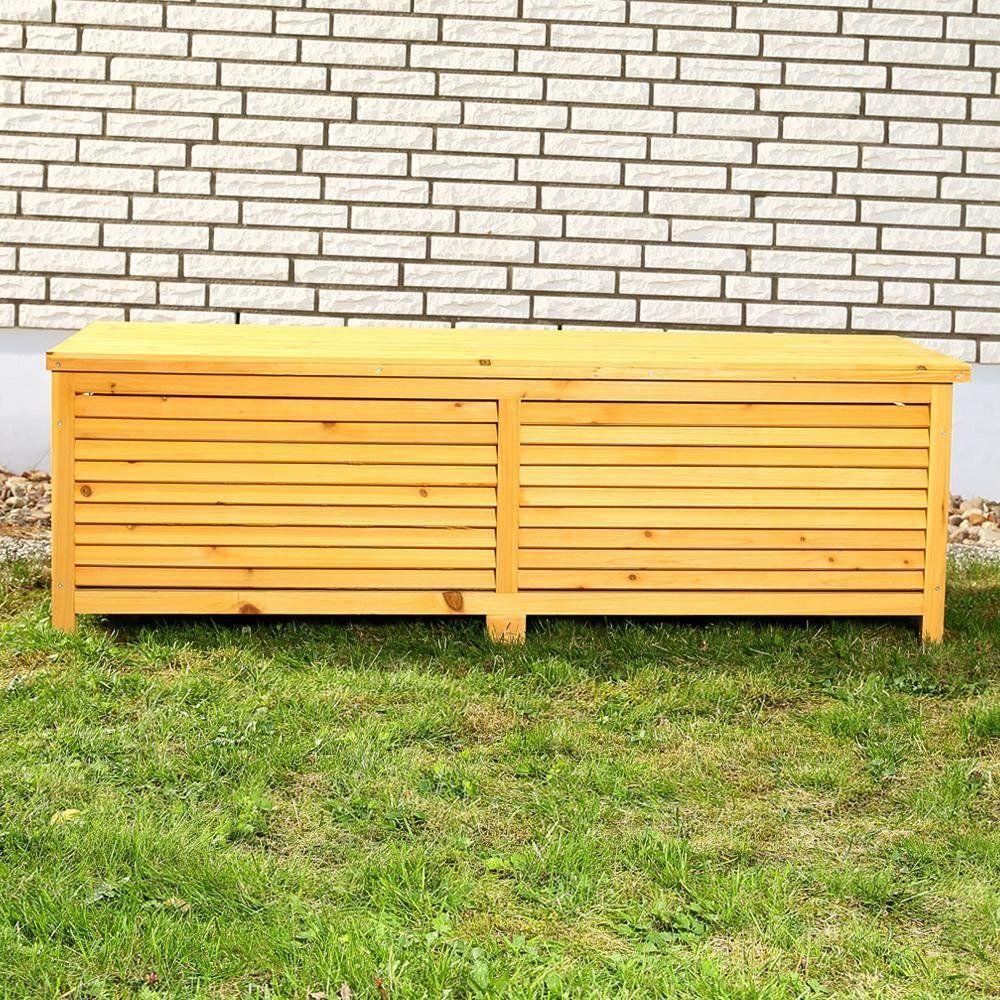 Designer Bank Garten Auflagenbox Holztruhe Holztruhe Auflagenbox