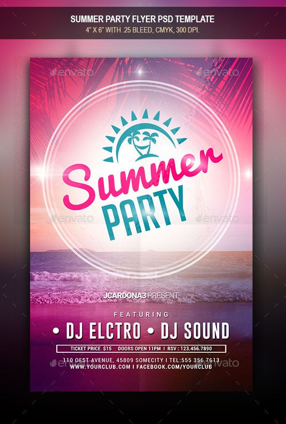 summer party flyer fonts logos icons pinterest party flyer