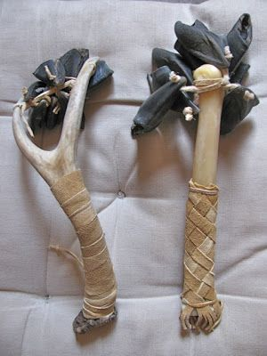 Deer Hooves Rattles With Antler And Cannon Bone Handles