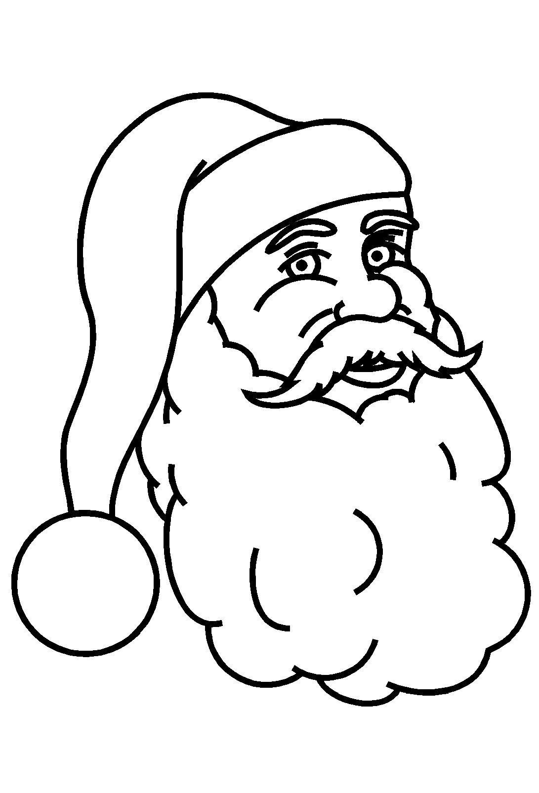 Le Père Noël en maternelle | Tete de pere noel, Pere noel, Visage
