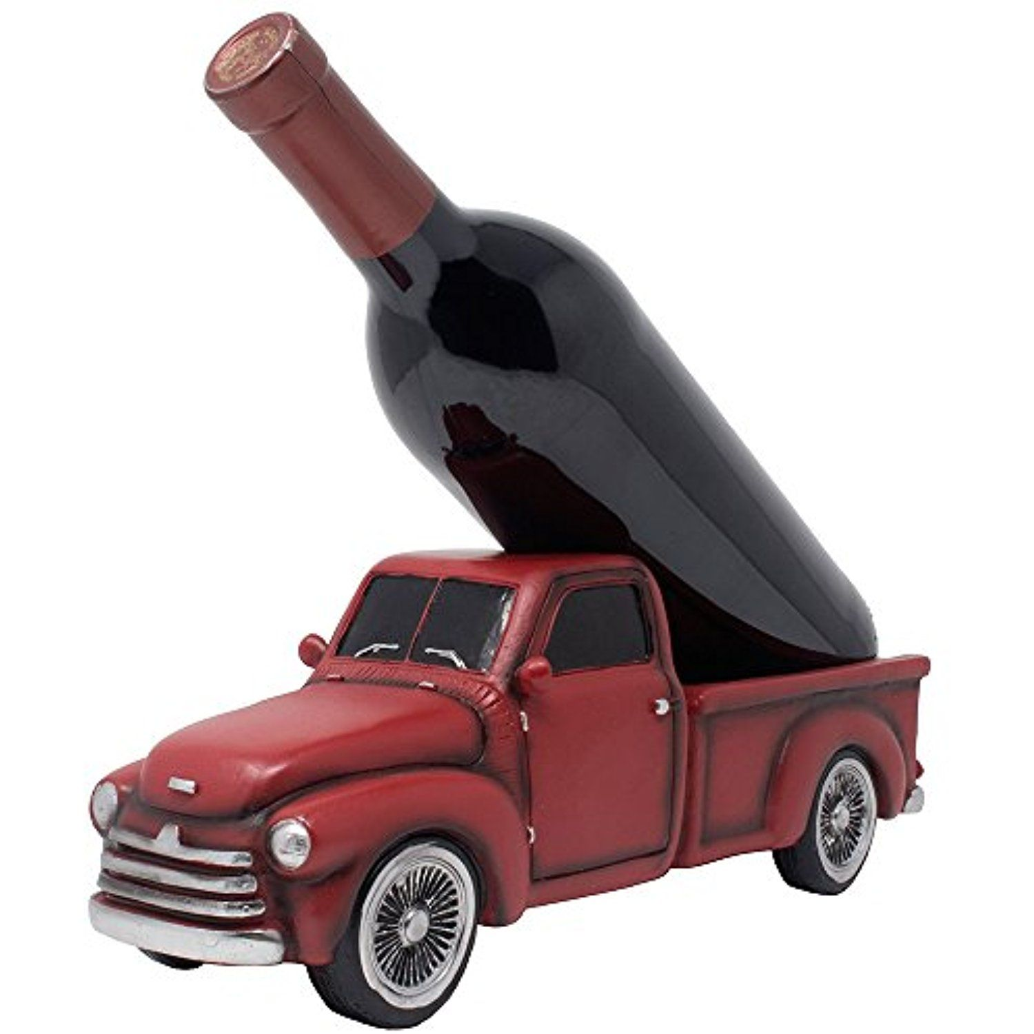 Vintage Pickup Truck Wine Bottle Holder Statue Or Decorative Wine Rack In Antique Look For Old Fashioned Country Kitchen Decor Vintage Pickup Trucks Rustic Bar
