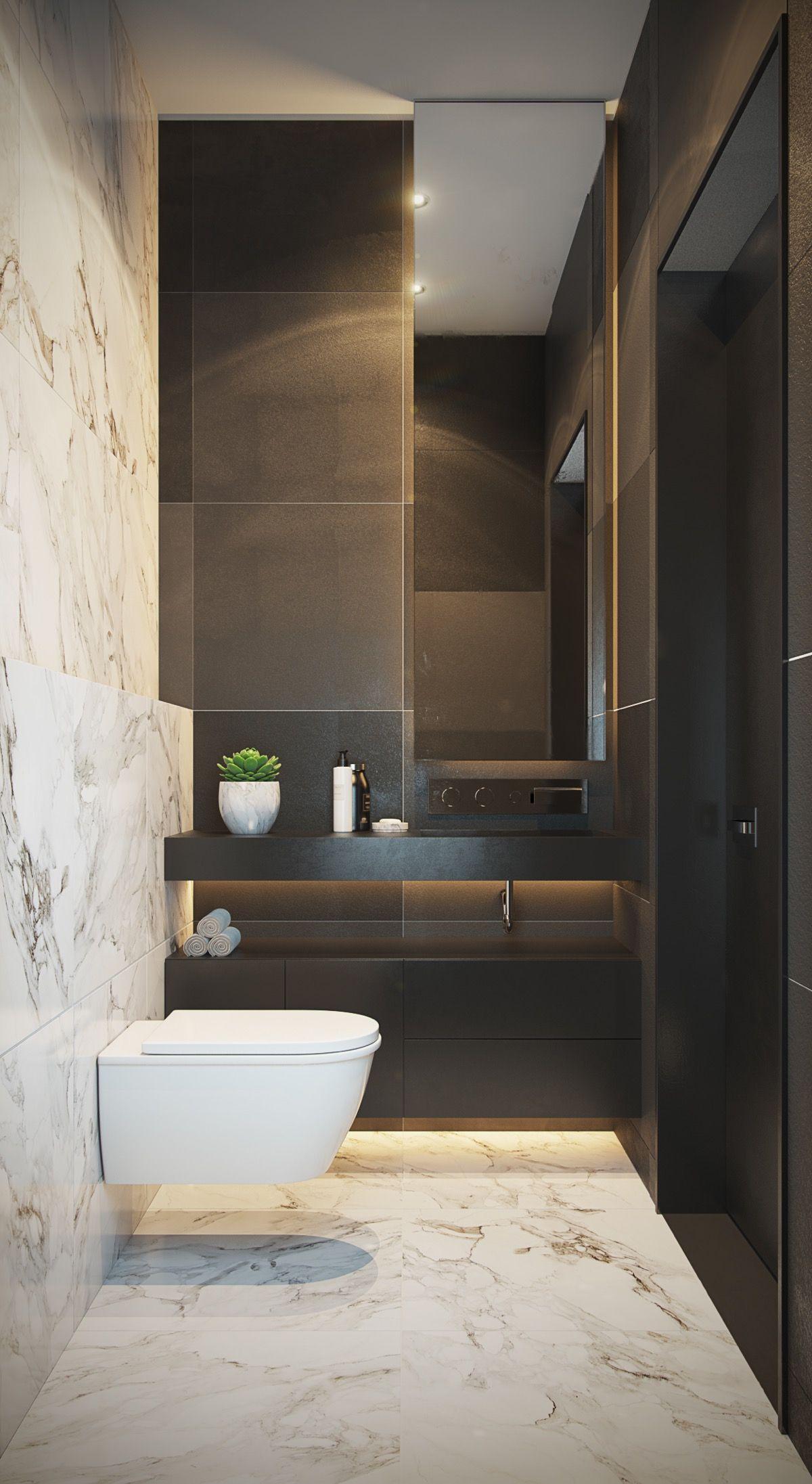 40 moderne minimalistische Stil Badezimmer   Badezimmer, Grau-weißes ...