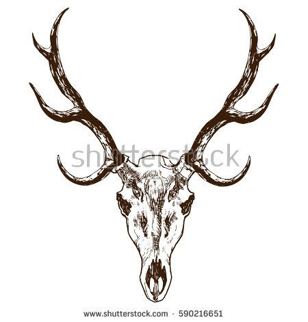 image result for elk skull tattoo wood pinterest elk rh pinterest co uk Elk Antler Tattoo Designs Elk Antler Tattoo Designs