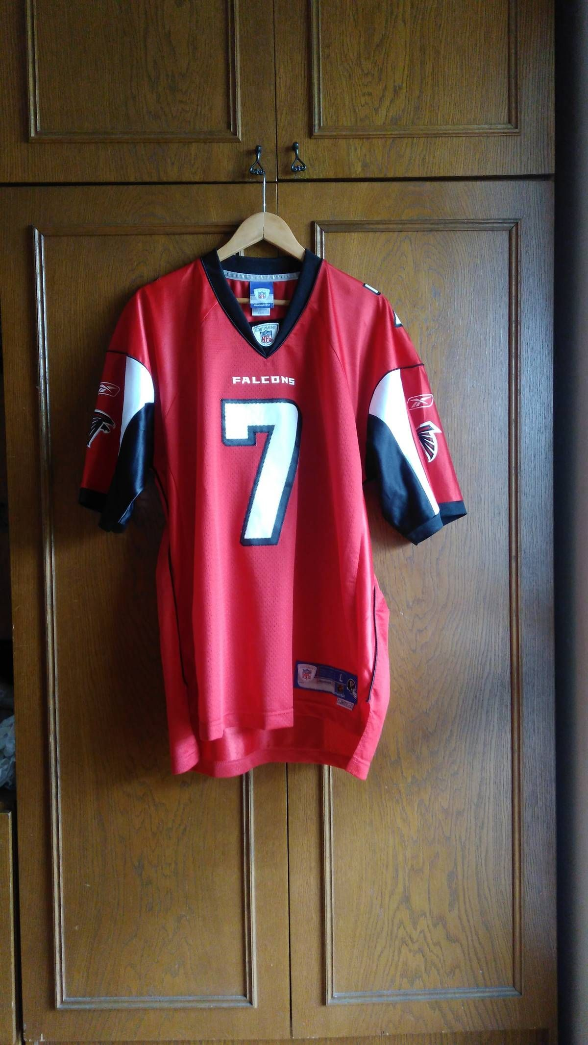 Nfl Reebok Sportswear Nfl Michael Vick Atlanta Falcons Jersey Number 7 Jersey Throwback Atlanta Falcons Mike Vick Jersey Football Sport Red Top Size Large J Red Shirt Atlanta Falcons Jersey Reebok Clothes