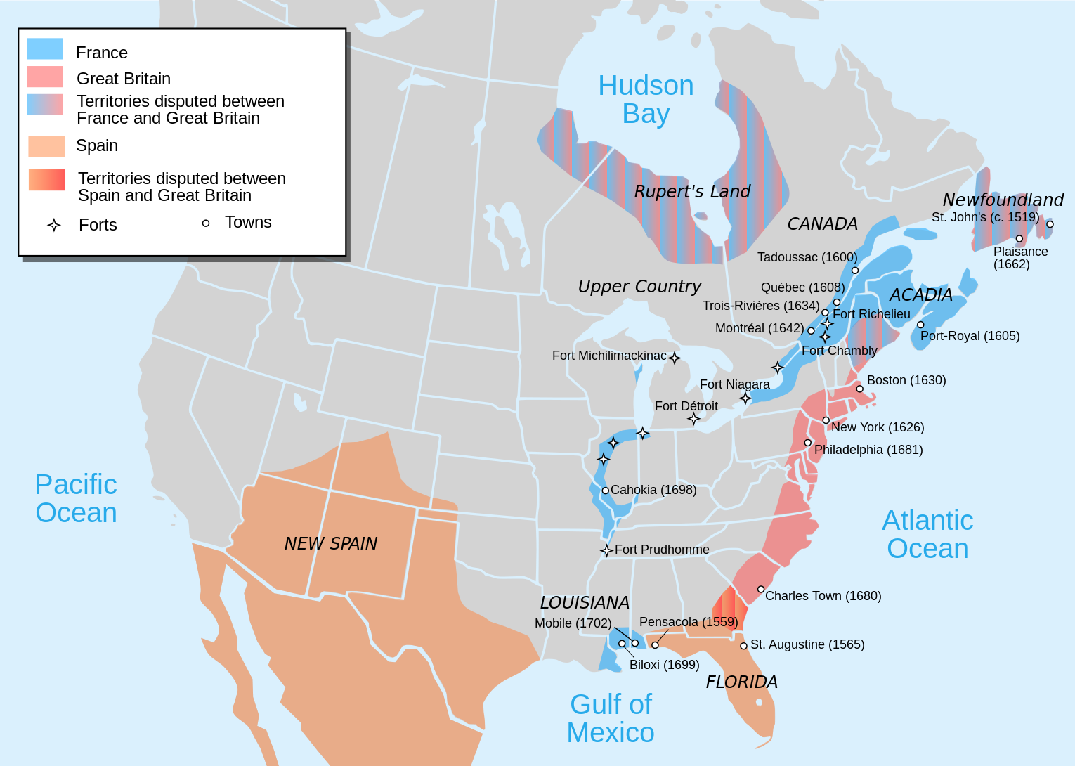 COLONIAL AMERICAN DIGRESSIONS FRENCH ENCIRCLEMENT OF THE ENGLISH - Us colonies and england world map