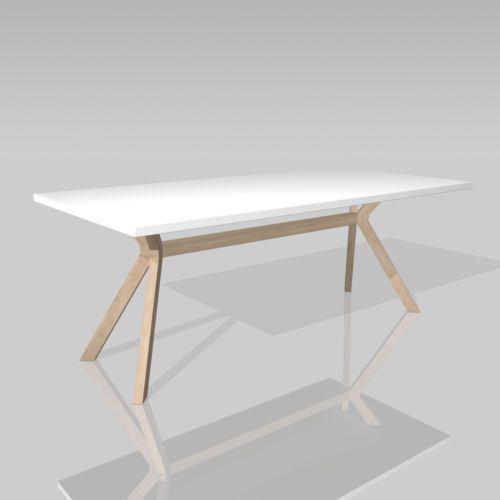 Konferenztisch Besprechungstisch Tisch Kozani Weiss Beine Buche