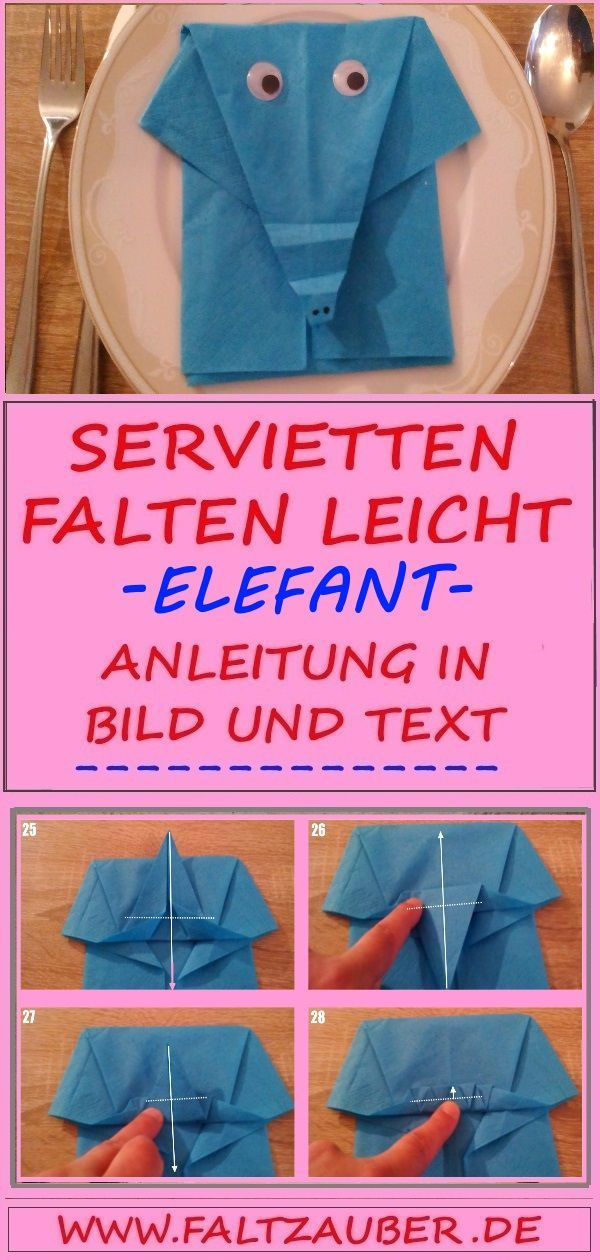 💘 servetten vouw instructie olifant 👈 Check more at https://www.decorationand...