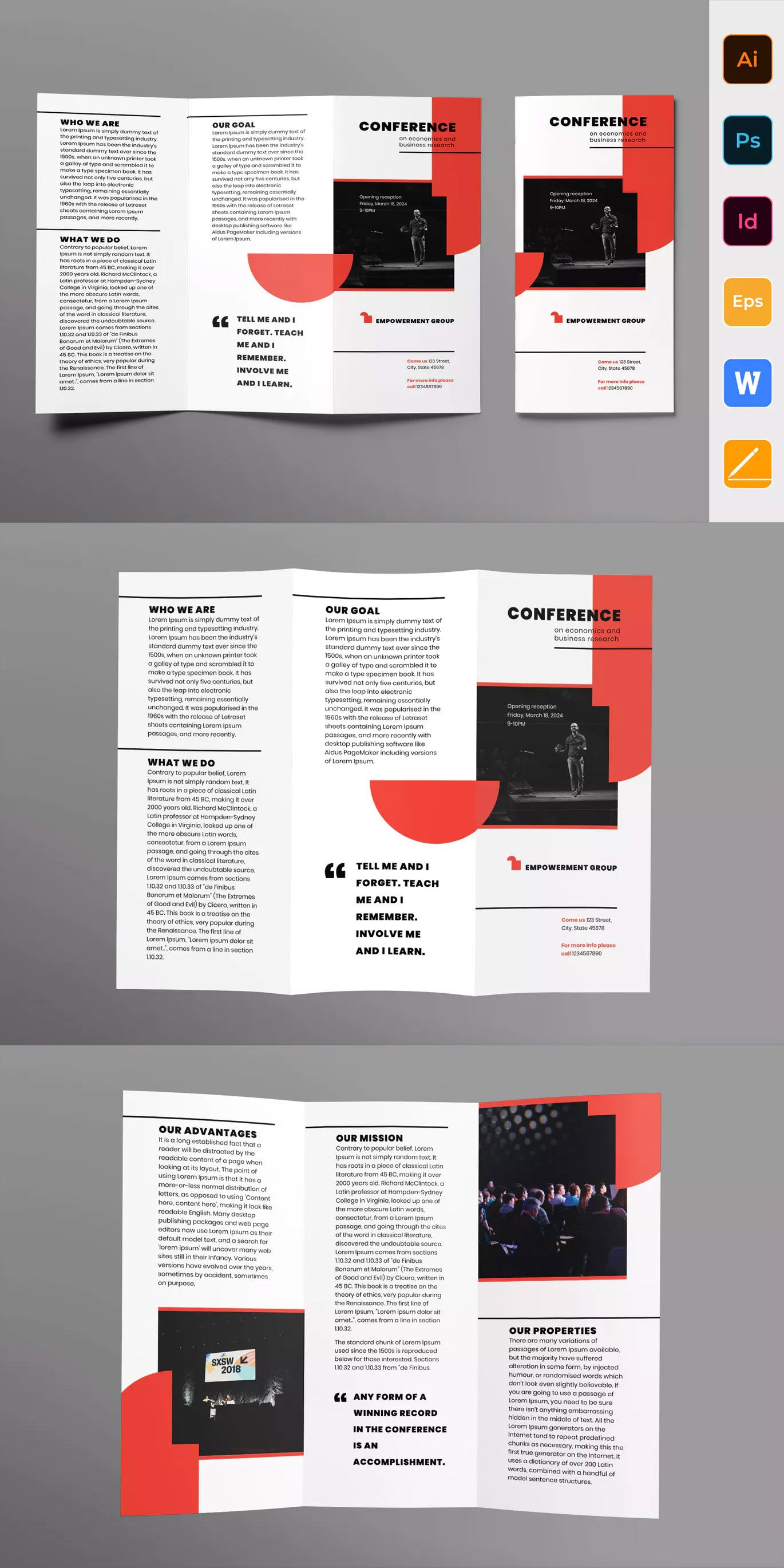 Conference Brochure Trifold Template Ai Eps Indd Psd Download