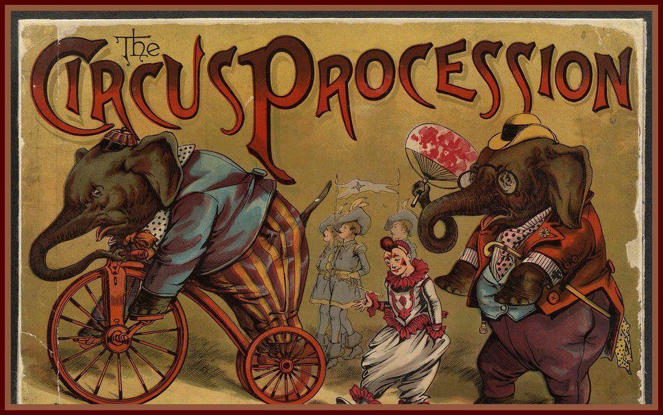 Винтажные картинки цирк