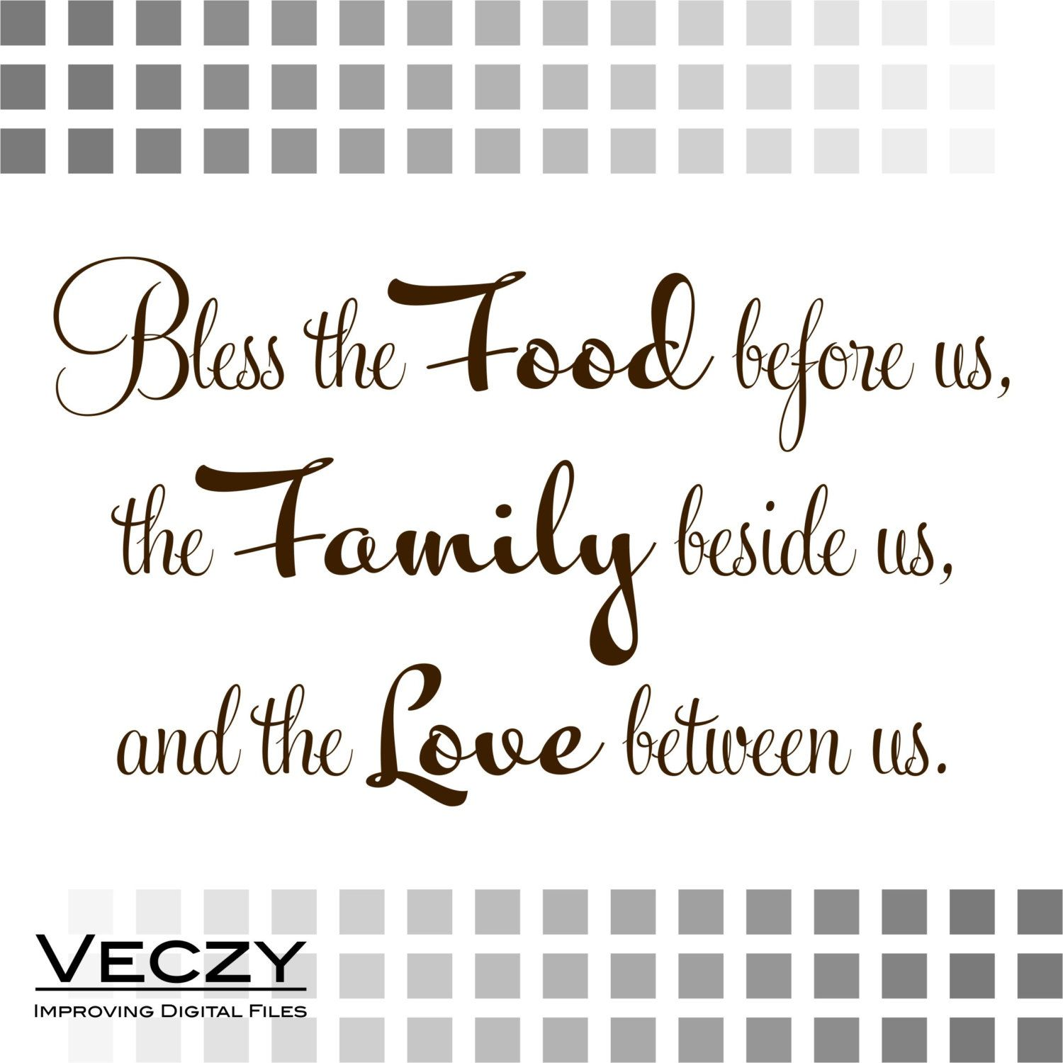 svg quotes, Bless The Food Before Us, Cricut Files, svg