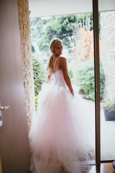 Pink Tulle Wedding Gown Cappellazzo Couture