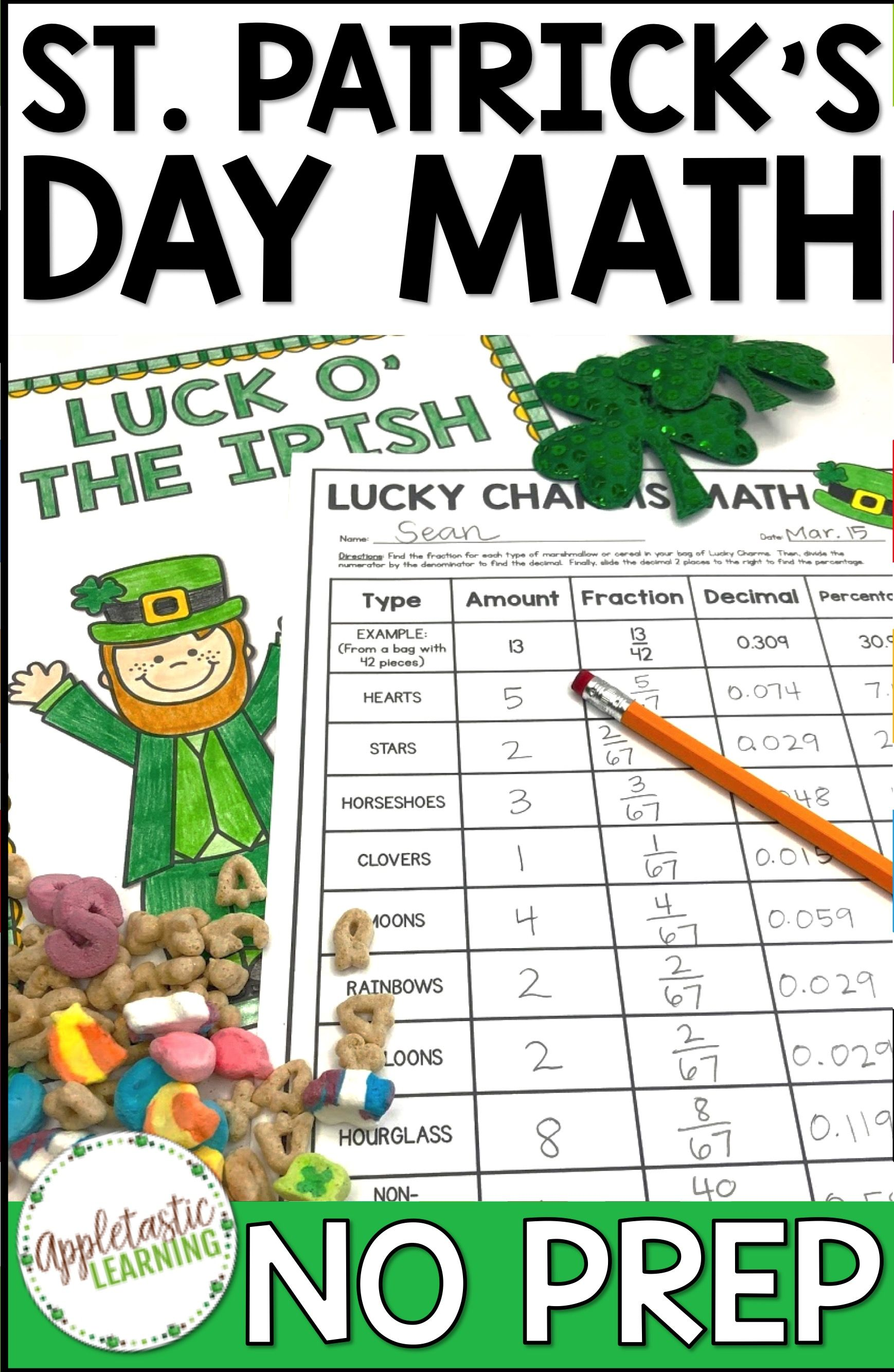 St Patrick S Day Math