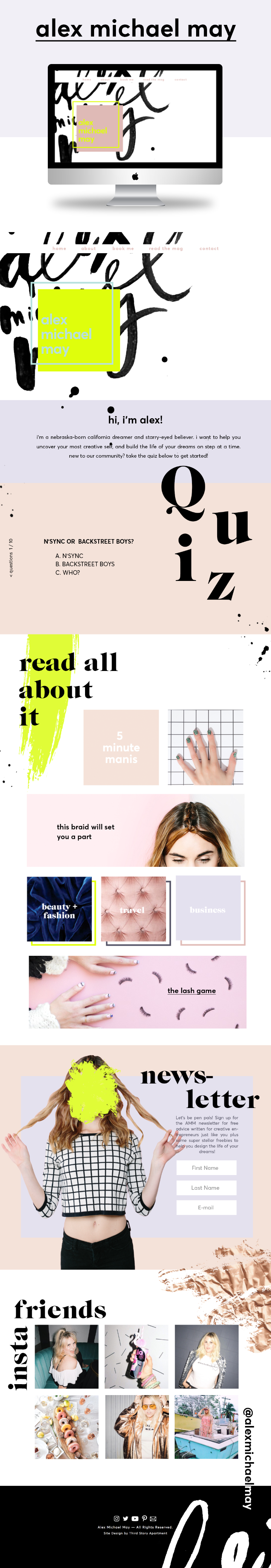 Website Design by Lindsey Eryn Clark of Third Story Apartment.     Fashion Blogger, Showit5 Website, Web design, web inspo, graphic design, texture, velvet texture, body pos blogger, cool website layout, designspiration
