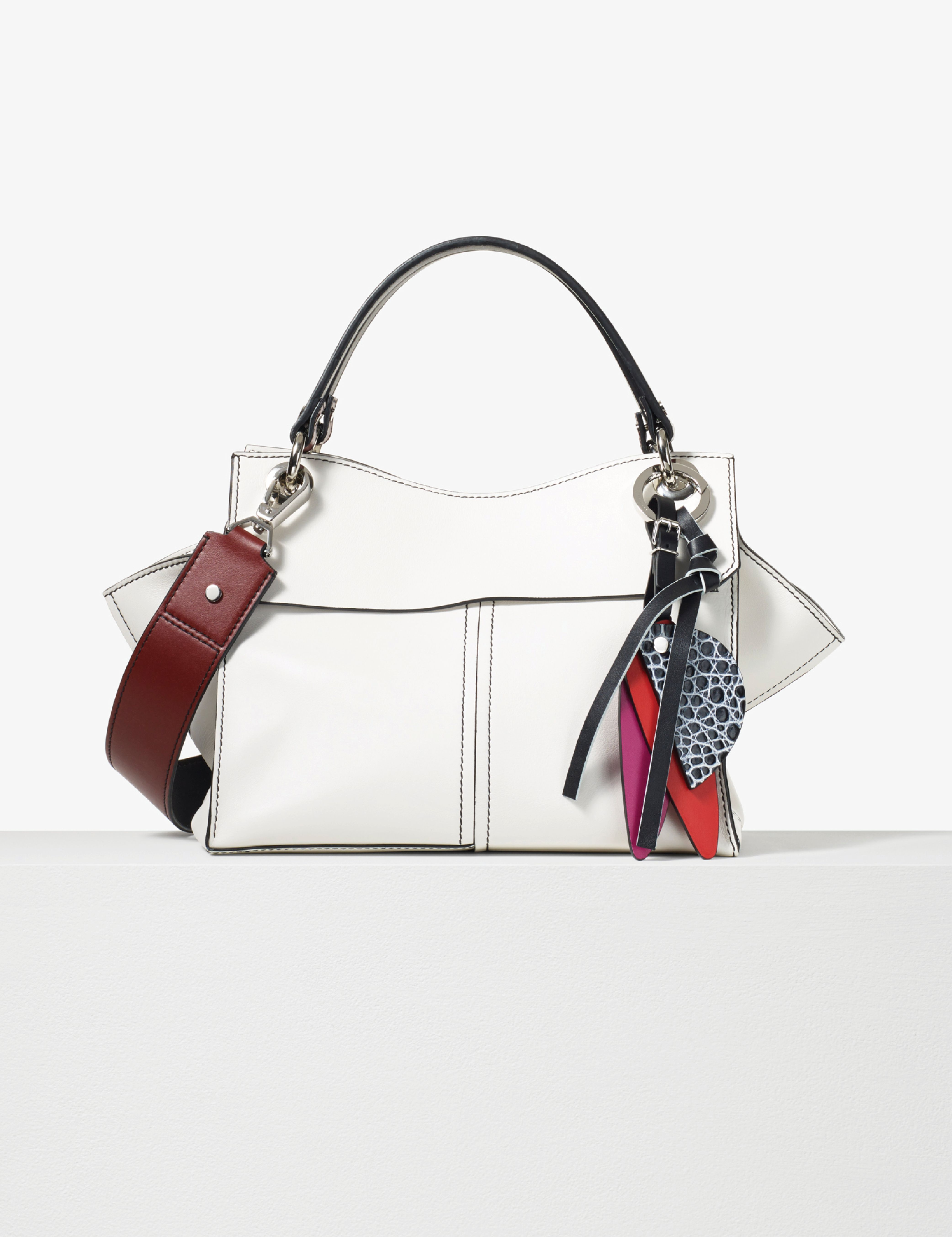 Proenza Schouler Optic White Soft Smooth Leather Curl Handbag
