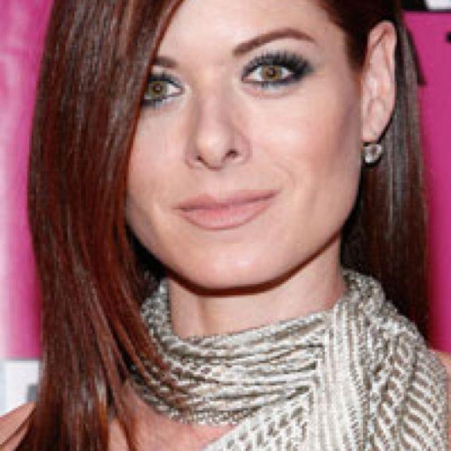 Hazel Eyes Pale Skin Dark Red Hair Love Debra Messing Hair Color Shades Office Hairstyles Hair Color For Women