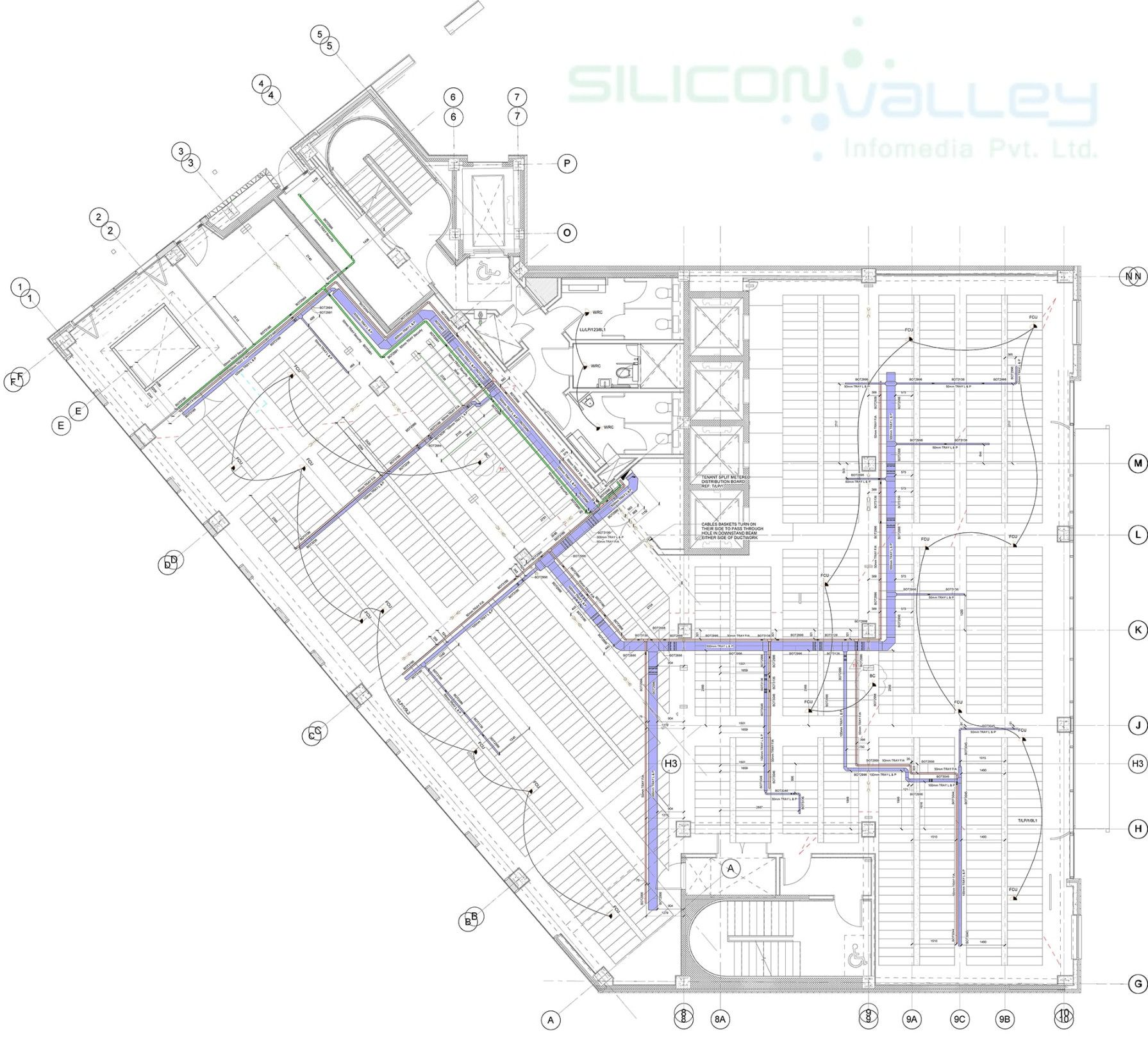 silicon info provides mep shop drawing detailing services for [ 1791 x 1619 Pixel ]