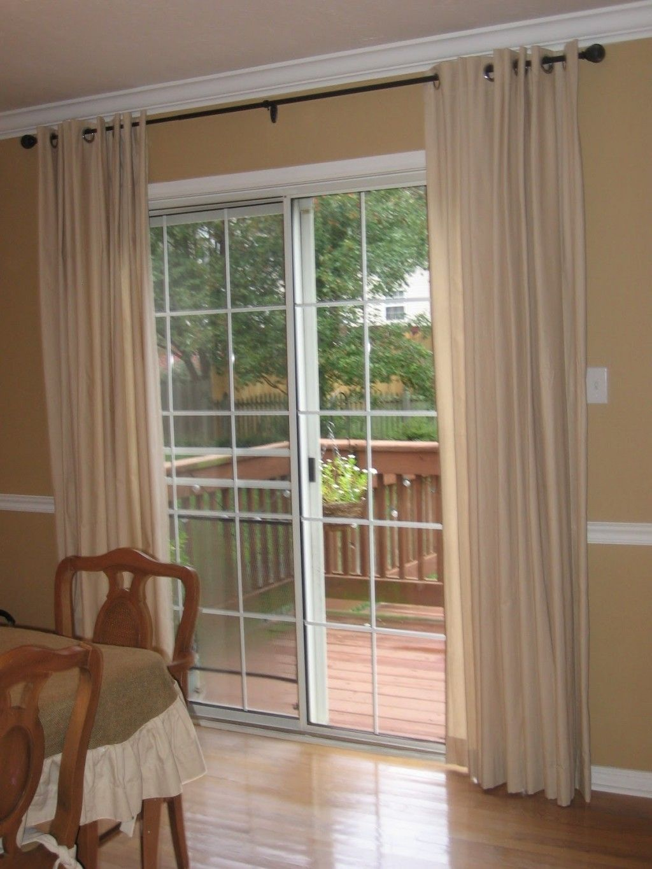 Curtains sliding glass doors bedroom glass doors pinterest